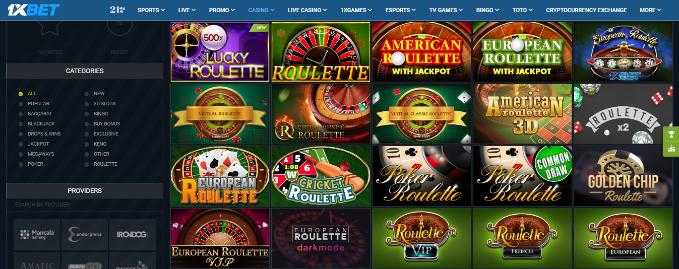 1xBet roulette review