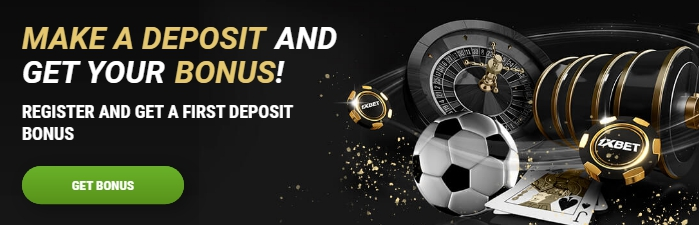 1xBet 100 first deposit bonus